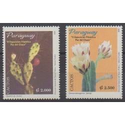 Paraguay - 2001 - No 2826A/2826B - Fleurs - Philatélie
