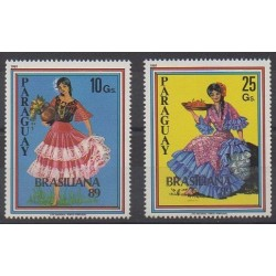 Paraguay - 1989 - Nb 2434/2435 - Costumes - Uniforms - Fashion - Philately