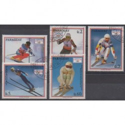Paraguay - 1990 - Nb 2500/2504 - Winter Olympics - Used