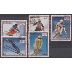Paraguay - 1990 - No 2500/2504 - Jeux olympiques d'hiver - Oblitérés