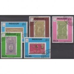 Paraguay - 1990 - No 2490/2493 - Timbres sur timbres - Oblitérés