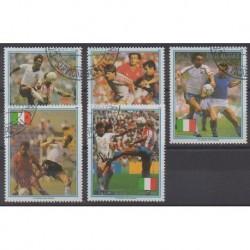 Paraguay - 1989 - No 2466/2470 - Coupe du monde de football - Oblitérés
