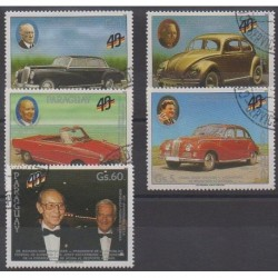 Paraguay - 1989 - Nb 2429/2433 - Cars - Used