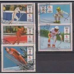 Paraguay - 1989 - No 2419/2423 - Jeux olympiques d'hiver - Oblitérés
