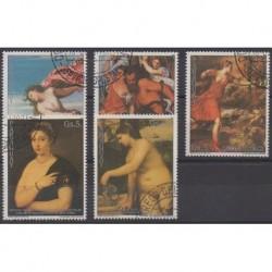 Paraguay - 1989 - No 2400/2404 - Peinture - Oblitérés