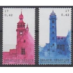 Belgium - 2001 - Nb 3010/3011 - Monuments
