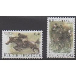 Belgique - 2002 - No 3079/3080 - Chevaux