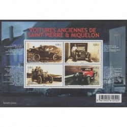 Saint-Pierre and Miquelon - Blocks and sheets - 2014 - Nb F1112 - Cars