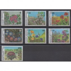 Greece - 1989 - Nb 1715/1721 - Flowers