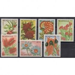 Nicaragua - 1988 - Nb PA1264/PA1270 - Flowers