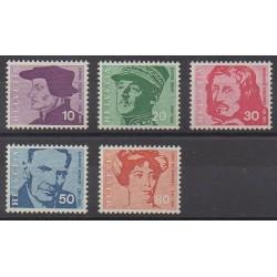 Swiss - 1969 - Nb 841/845 - Celebrities