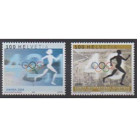 Swiss - 2004 - Nb 1800 et S480 - Summer Olympics