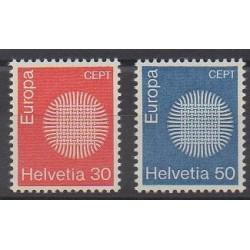 Swiss - 1970 - Nb 855/856 - Europa
