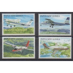 Papua New Guinea - 1987 - Nb 552/555 - Planes