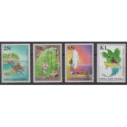 Papouasie-Nouvelle-Guinée - 1988 - No 804/807 - Sports divers