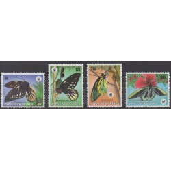 Papua New Guinea - 1988 - Nb 569/572 - Insects - Endangered species - WWF