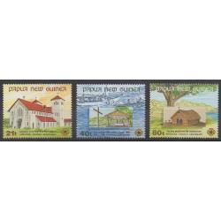 Papouasie-Nouvelle-Guinée - 1991 - No 635/637 - Églises
