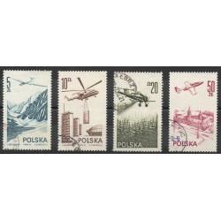 Pologne - 1976- No PA 55/ PA 58 - Avions - Oblitéré