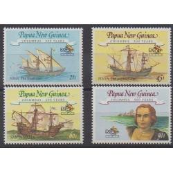 Papouasie-Nouvelle-Guinée - 1992 - No 646/649 - Christophe Colomb