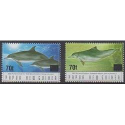 Papouasie-Nouvelle-Guinée - 2004 - No 1000/1001 - Vie marine - Mammifères