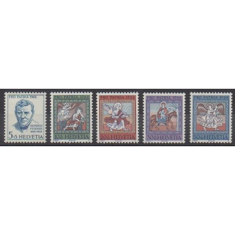 Swiss - 1966 - Nb 769/773 - Religion