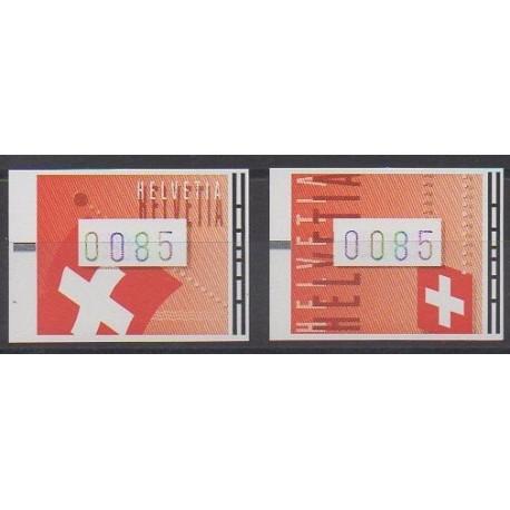 Swiss - 2005 - Nb TD20/TD21 - Flags