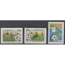 Syria - 1990 - Nb 893/895 - Soccer World Cup
