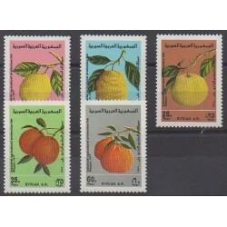 Syrie - 1977 - No 490/494 - Fruits ou légumes