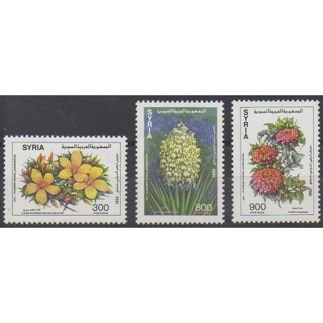 Syria - 1992 - Nb 957/959 - Flowers