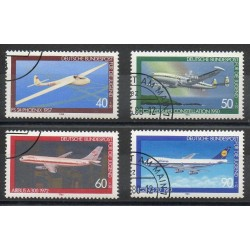 West Germany (FRG) - 1980- Nb 888/891 - Planes - Used