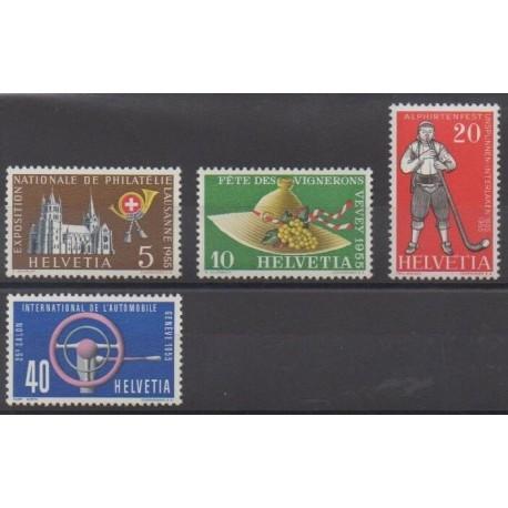 Swiss - 1955 - Nb 558/561 - Folklore