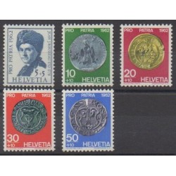 Swiss - 1962 - Nb 693/697 - Coins, Banknotes Or Medals