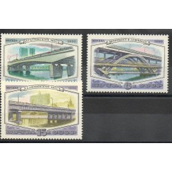 Russie - 1980- No 4761/4763 - Ponts