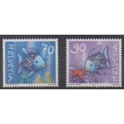 Swiss - 2001 - Nb 1694/1695 - Childhood
