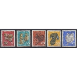 Swiss - 1965 - Nb 759/763 - Mamals
