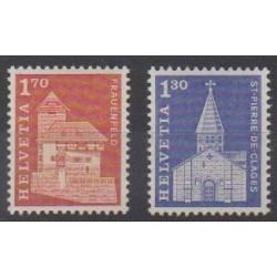 Swiss - 1966 - Nb 764/765 - Churches