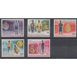 Papouasie-Nouvelle-Guinée - 1978 - No 354/358 - Histoire militaire