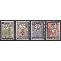 Papouasie-Nouvelle-Guinée - 1977 - No 332/335 - Folklore