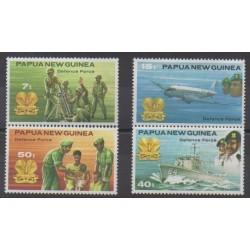 Papouasie-Nouvelle-Guinée - 1981 - No 408/411 - Histoire militaire