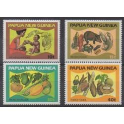 Papouasie-Nouvelle-Guinée - 1982 - No 434/437 - Fruits ou légumes