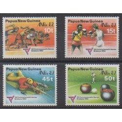 Papua New Guinea - 1982 - Nb 445/448 - Various sports