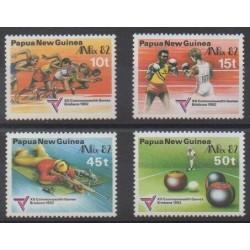 Papouasie-Nouvelle-Guinée - 1982 - No 445/448 - Sports divers