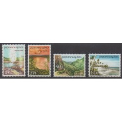 Papouasie-Nouvelle-Guinée - 1985 - No 486/489 - Sites