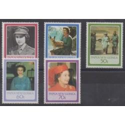Papouasie-Nouvelle-Guinée - 1986 - No 515/519 - Royauté - Principauté