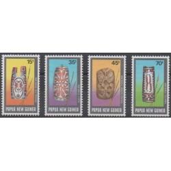 Papouasie-Nouvelle-Guinée - 1987 - No 543/546 - Artisanat ou métiers