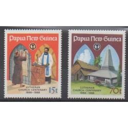 Papouasie-Nouvelle-Guinée - 1986 - No 524/525 - Églises