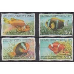 Papouasie-Nouvelle-Guinée - 1987 - No 534/537 - Vie marine