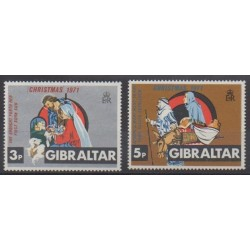 Gibraltar - 1971 - Nb 279/280 - Christmas