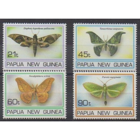 Papua New Guinea - 1994 - Nb 716/719 - Insects