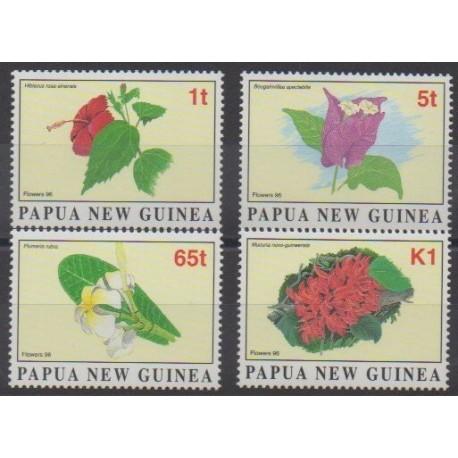 Papua New Guinea - 1996 - Nb 767/770 - Flowers